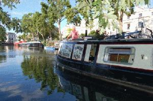 Canal boats on the Regents Canal in ittle Venice