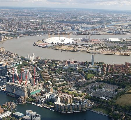 Riverthames.co aerial view of O2